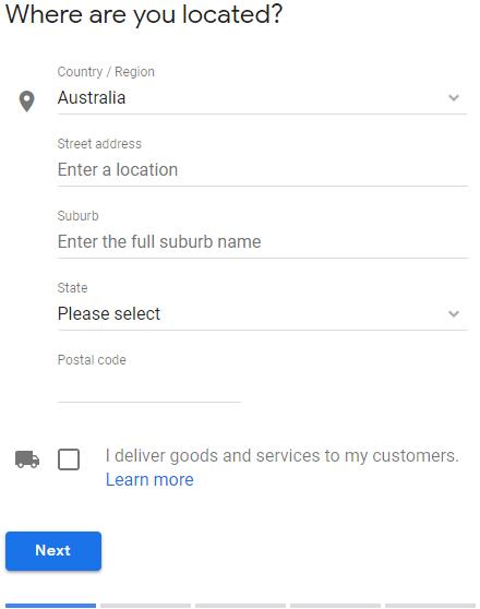 gmb location details.