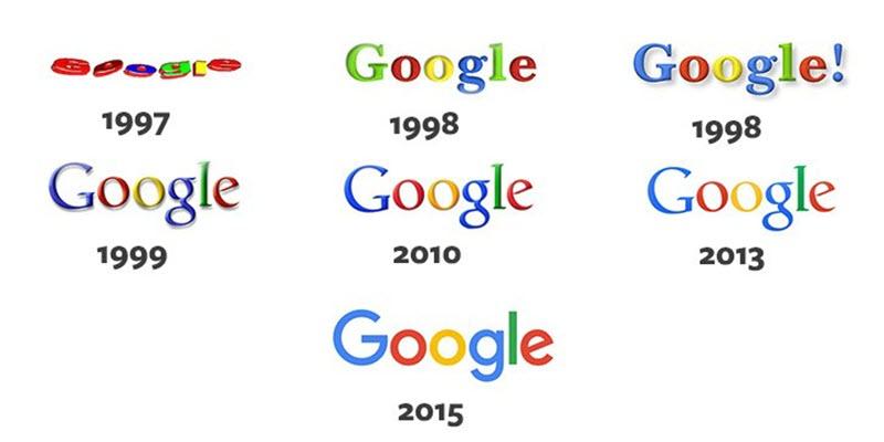 google logos over time.