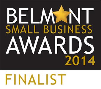 Belmont small business awards 2014 finalist logo.