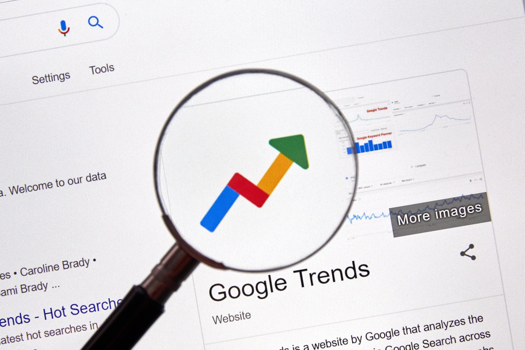 Google Trends for emerging topics in Australia.