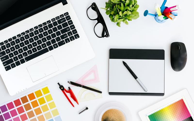 Graphic design marketing tool.