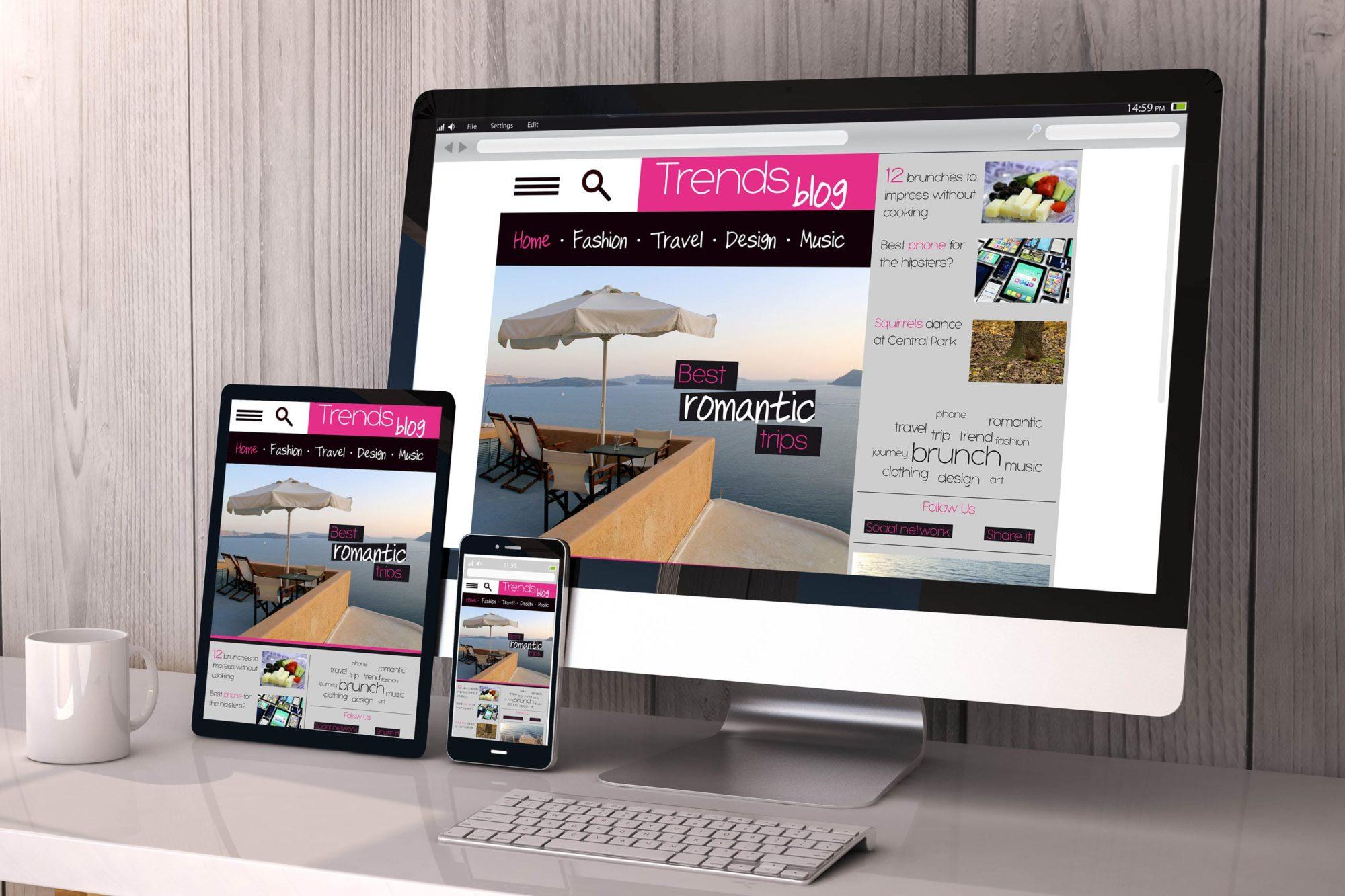 Mobile responsive website design example.